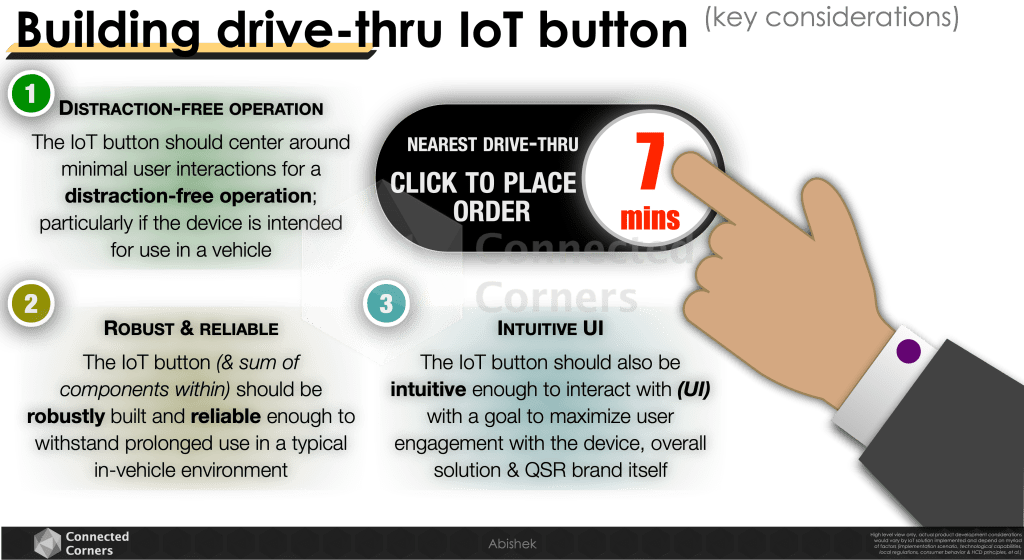 Considerations in building drive-thru IoT button - Connected Corners