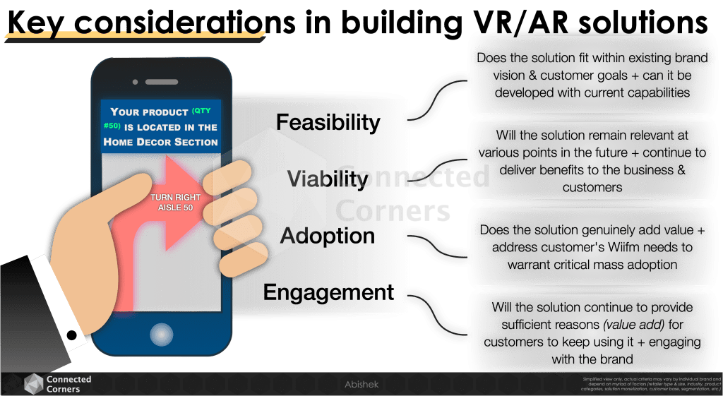 Key considerations in building VR/AR solutions - Connected Corners